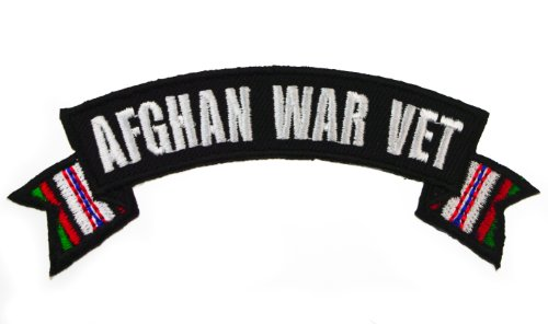 Coast Guard Afghan - Afghan War Vet Rocker Stripes Iron or Sew on Biker Patch IVANP3128