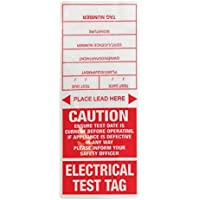 Jaybro Appliance Test Tag - Red 100/Pack