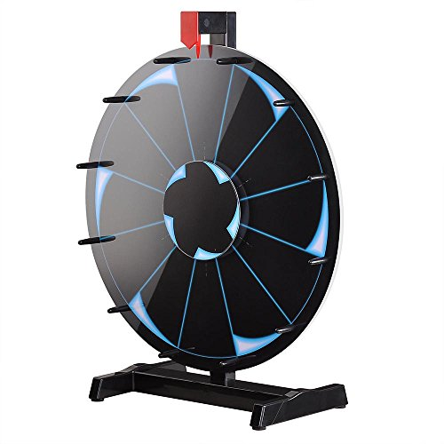 WinSpin™ 18' Tabletop Editable Prize Wheel 12 Slot Spinning Game with Dry Erase Tradeshow Carnival Black