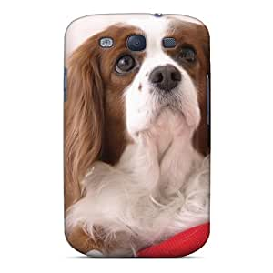 High Quality Shock Absorbing Case For Galaxy S3-white Cocker Spaniel