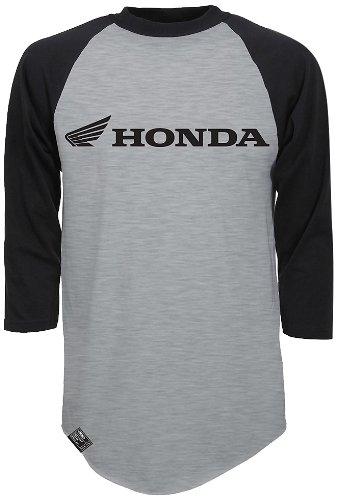 White//Black, X-Large Factory Effex 17-87236  YAMAHA Vintage Raglan Baseball Shirt