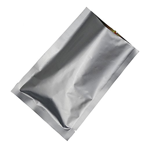 Small Clear White Plastic Bag Open Top Tear Notch Heat Seal Vacuum Food Pouch