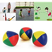 BEESCLOVER 3pcs/Pack Exercise Child Magic Circus Juggling Balls Funny Classic Bean Bag Juggle Beginner Kids Toy Kids Interactive Toys j3 as Show