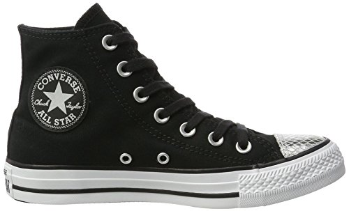 Converse Damen All Star Metallic Sneakers A Punta Metallica Schwarz (nero / Argento / Nero)