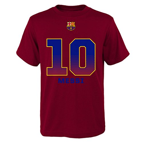 FC Barcelona Lionel Messi Name & #10 Youth T-Shirt Size SM-XL Officially Licensed 100% Cotton Ships from USA (Youth XL) ()