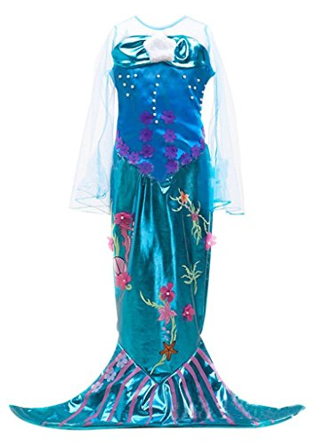 [Gir's Mermaid Cosplay Costume Halloween Costume Mermaid Dress,150cm] (Gir Costume)