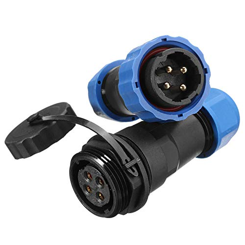 OKIl 1 Pair Waterproof Aviation Connector Plug with Socket SD20-4 4 Pin IP68 F3F7 O5P3