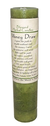 Blessed Herbal Money Draw Candle by Coventry Creations (Image #1)
