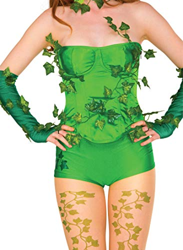 Rubie's Costume Women's DC Comics Poison Ivy Deluxe Corset with Ivy Leaves, Medium/Large -