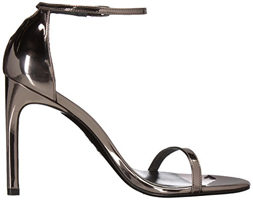 Stuart Weitzman Women's Nudistso Heeled Sandal Pewter Glass cTmGJ0