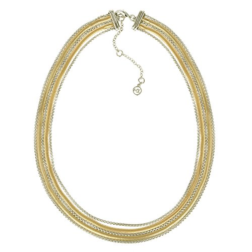 BIJOUX BOBBI Snake & Box Chain Multi Strand Statement Necklace