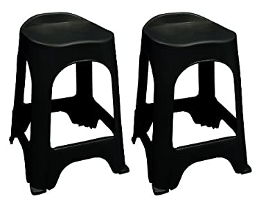 Adams Manufacturing Real Comfort 2-Pack Bar Stool, 24-Inch