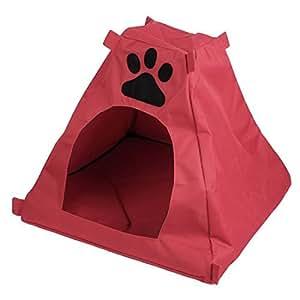 Patrón DealMux pata del animal doméstico Carpa caseta de perro Nido, 40 cm, Rojo