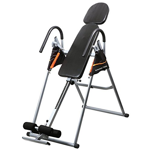 Yaheetech 300 Lb 180 Degree Adjustable Inversion Therapy Exercise Table with Foam Pad
