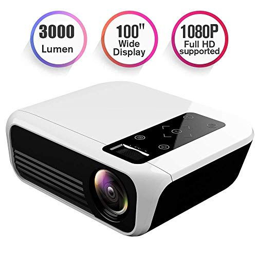 JiaDY Projektor Home Media Player HD Anschluss Projektor LED Projektor Home Projector LED Portable 1920X1080p HD…