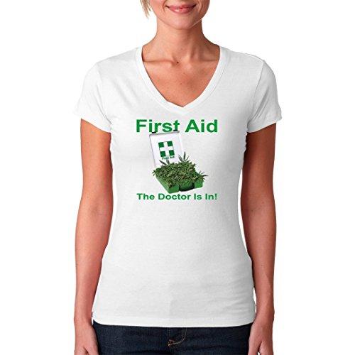 Fun Sprüche Girlie V-Neck Shirt - First Aid by Im-Shirt Weiß KhNMOnTw