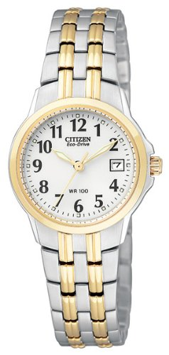Citizen Eco-Drive Women's EW1544-53A Silhouette Two-Tone Stainless Steel - Woman Hand Silhouette