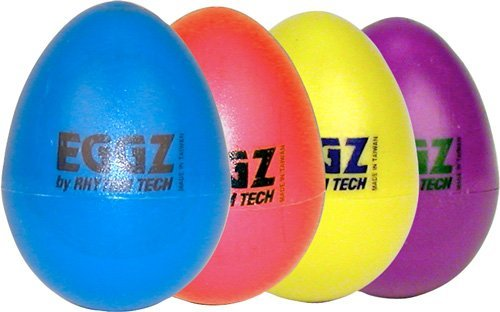 RhythmTech RT2111 Eggz Shakers - Assorted Colors, 24-Pack by Rhythm Tech