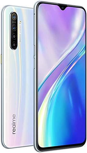 "Realme XT (128GB, 8GB RAM) 6.4"" AMOLED, 64MP Quad Camera, Snapdragon 712, Dual SIM GSM Unlocked, US + Global 4G LTE International Model - RMX1921 (Pearl White, 128GB + 64GB SD + Case Bundle)"