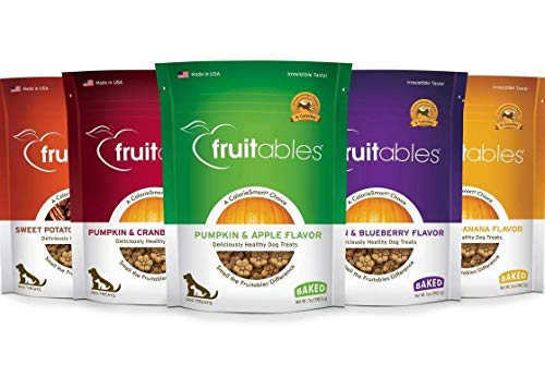 Fruitables Pumpkin Dog Treats, Variety Pack of 5 For Sale