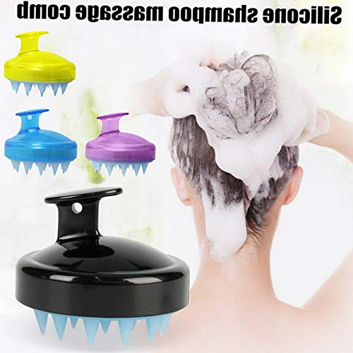 Werrox Silicone Shampoo Brush Hair Scalp Cleaning Massage Brush Soft Silicone Comb HOT | Model HRBRSH - 655 |