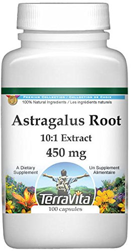 Extra Strength Astragalus Root 10:1 Extract - 450 mg (100 Capsules, ZIN: 511242) - 2 Pack