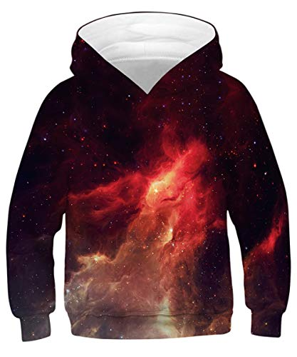 - GLUDEAR Unisex 3D Printed Hooded Sweatshirt Casual Pullover Hoodie for Boys Girls,Flame,11-13 Years
