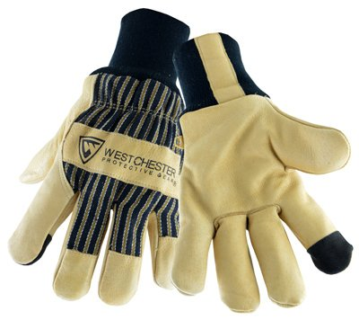 West Chester Holdings 97900/XL Pigskin Palm Glove, X-Large, Beige/Black