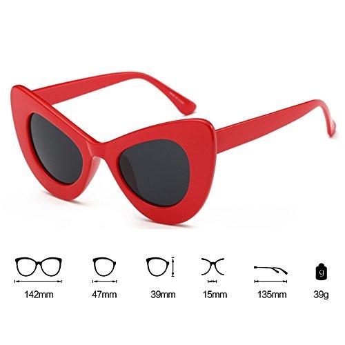 Glasses Color Show Summer hibote 1 Eye Wild Gafas Cat Style de Gradient sol Party 7q7A8Pwfx
