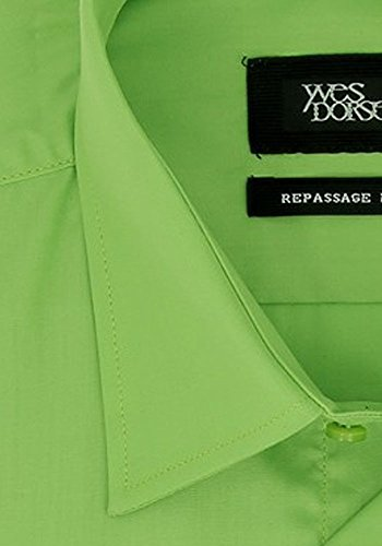 Majoritaire Coton Chemise Uni Pistache Popeline En Dorsey Yves CR7wXqZw