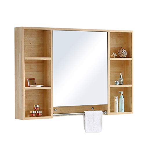 Bathroom Vanities Mirror Wall Mirror Cabinet Waterproof Storage Cabinet Bathroom Rack Wall Mirror Box Living Room Decorative Mirror Bedroom Vanity Mirror Wall-Mounted Vanity Mirrors ()