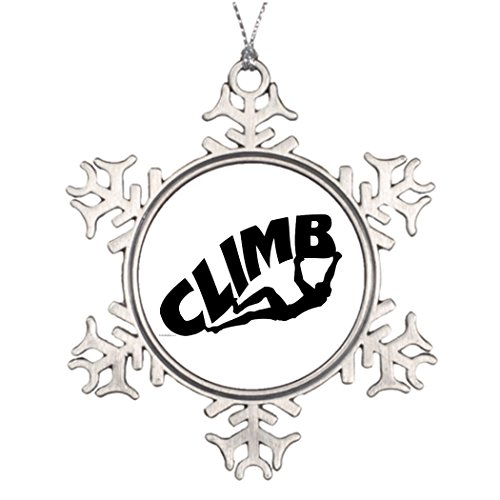 Cool fine Personalised Christmas Tree Decoration Rock Climber Wedding Snowflake Ornaments