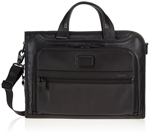 Tumi Alpha 2 Slim Deluxe Leather Portfolio, Black, One Size by Tumi