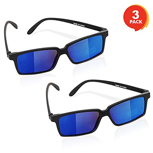 Costume Ideas Boys (ArtCreativity Spy Glasses for Kids - Set of 3 - See Behind You Sunglasses with Rear View Mirrors - Fun Party Favors, Detective Gadgets, Secret Agent Costume Props, Gift Idea)