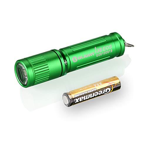 Olight I3E EOS 90 Lumens Keychain LED Flashlight with AAA Battery (Green)
