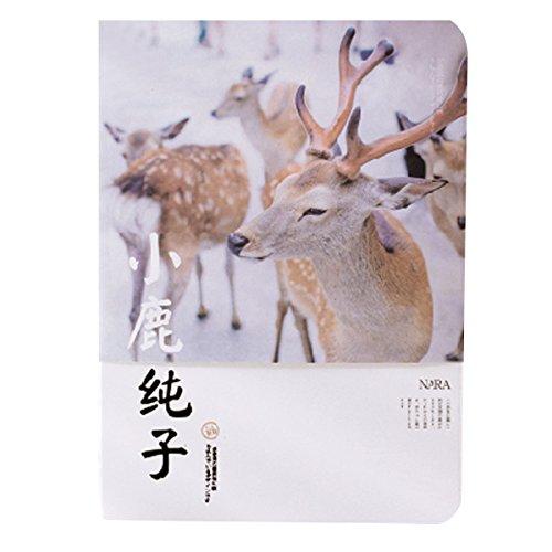 Felice Cover Art Journals Notebook Antique Binding Diary Sketchbook Travel Journals of School Supplies Deer of Nara (#04)