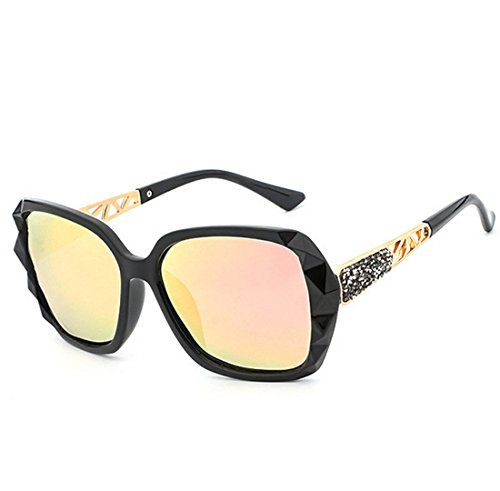 UV400 Lady Versión Perspective Light QQBL 99 Polarizadas Purple para De Coreana Visible Elegante End UV High Anti De PC Sol Pink Gafas Resina xSt7ng