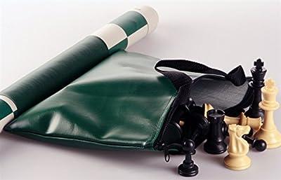 Vinyl Zippered Chess Set Travel Bag (bag only, no pieces) - Green