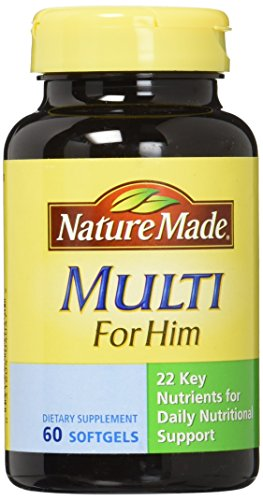 Nature Made Multi for Him Softgels, 60 Count (Multivitamin Men Nature Made compare prices)