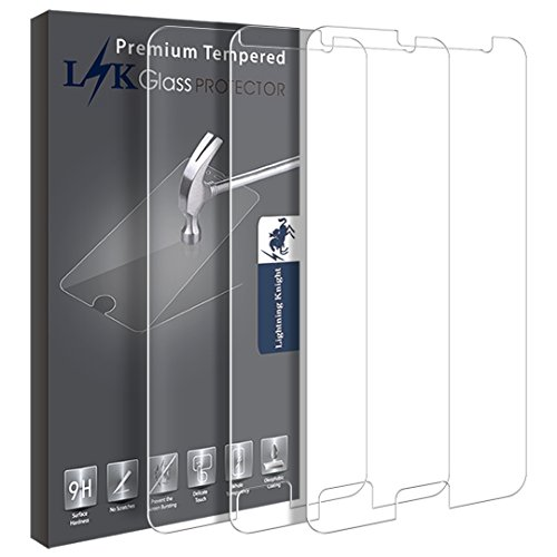 Samsung Galaxy On5 Screen Protector, LK [3 PACK] Tempered Glass with Lifetime Replacement Warranty  samsung on5 screen protector | Samsung ON5 Pro – How to fix glass on screen for protection 41IKZaRszkL