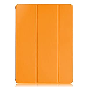 KHOMO Case Dual Super Slim Cover with Rubberized Back and Smart Feature, iPad Pro 12.9 (iPad-Pro-12-Orange-Black) by KHOMO