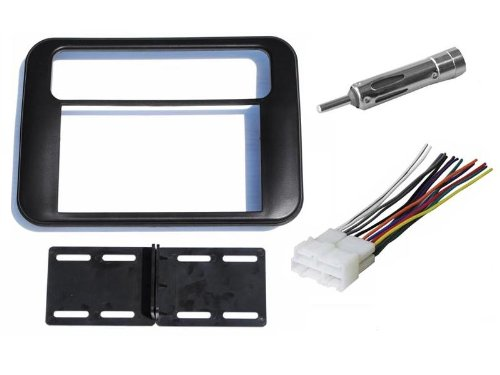 Pontiac Firebird / Trans Am 1993 1994 1995 1996 1997 1998 1999 2000 2001 2002 Double Din Aftermarket Stereo Radio Installation Install Dash Kit + Wire Harness and Antenna Adapter (1995 Pontiac Trans Am Accessories)