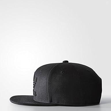 a17446003d9672 Amazon.com: adidas Men's Originals Snapback Flatbrim Cap, black/black, One  Size: Clothing