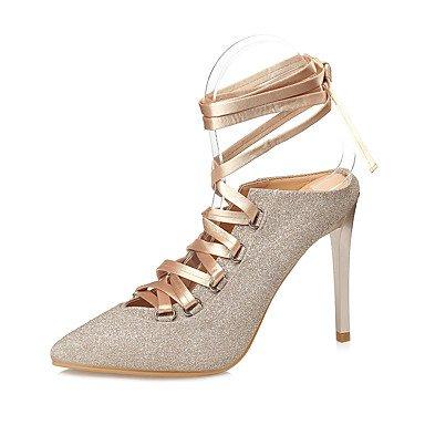 Pelle YCMDM Donne Sandali Primavera Estate Comfort Vestito tacco a spillo , gold , us6 / eu36 / uk4 / cn36