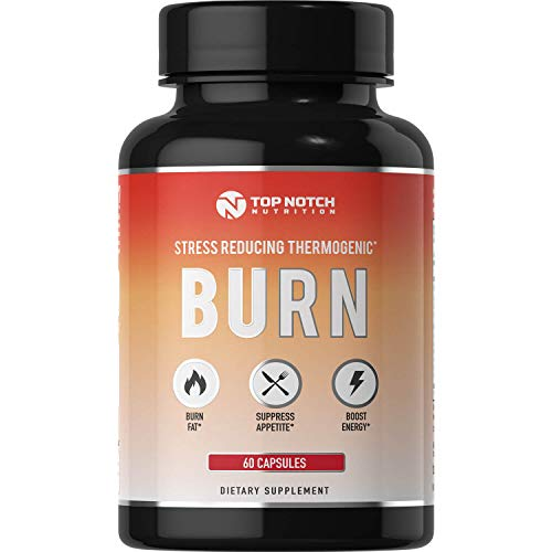 Top Notch Nutrition 4-in-1 Thermogenic Fat Burning Weight Loss Pills for Women & Men. Energy Boost & Appetite Suppressant Diet Pills | Boost Metabolism, Burns More Calories & Manage Cortisol.