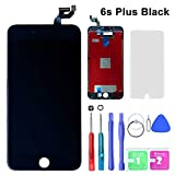 SZRSTH Compatible with iPhone 6s Plus Screen Replacement Black 5.5 Inch LCD Display with 3D Touch Screen Digitizer Frame Full Assembly Include Full Free Repair Tools Kit+Instruction+Screen Protector