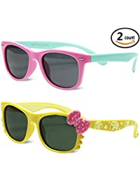 Kids Polarized Cat Eye or Aviator Sunglasses for Girls...
