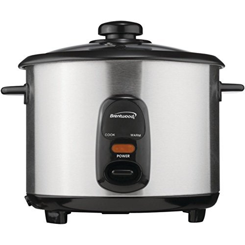 Brentwood Ts-15 8 Cup Rice Cooker Stainless Steel 500W Home & Garden