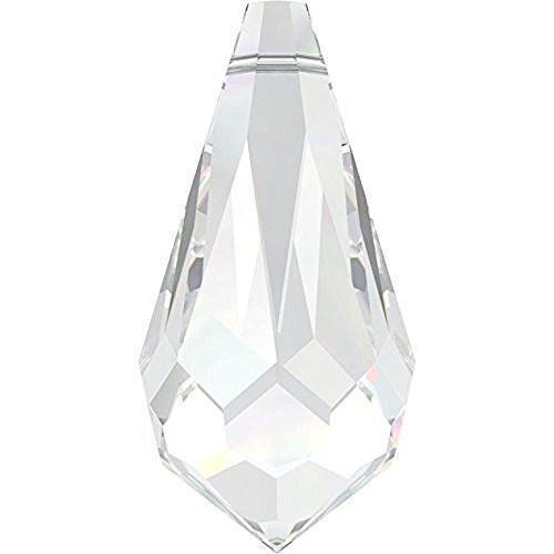 6000 Swarovski Pendant Teardrop | Crystal | 15mm - Pack of 5 | Small & Wholesale ()