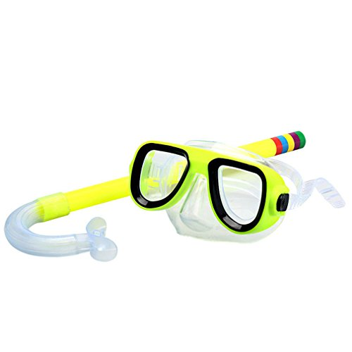 Swimming Scuba Anti-Fog Goggles PVC Mask Diving Glasses Yellow - 4